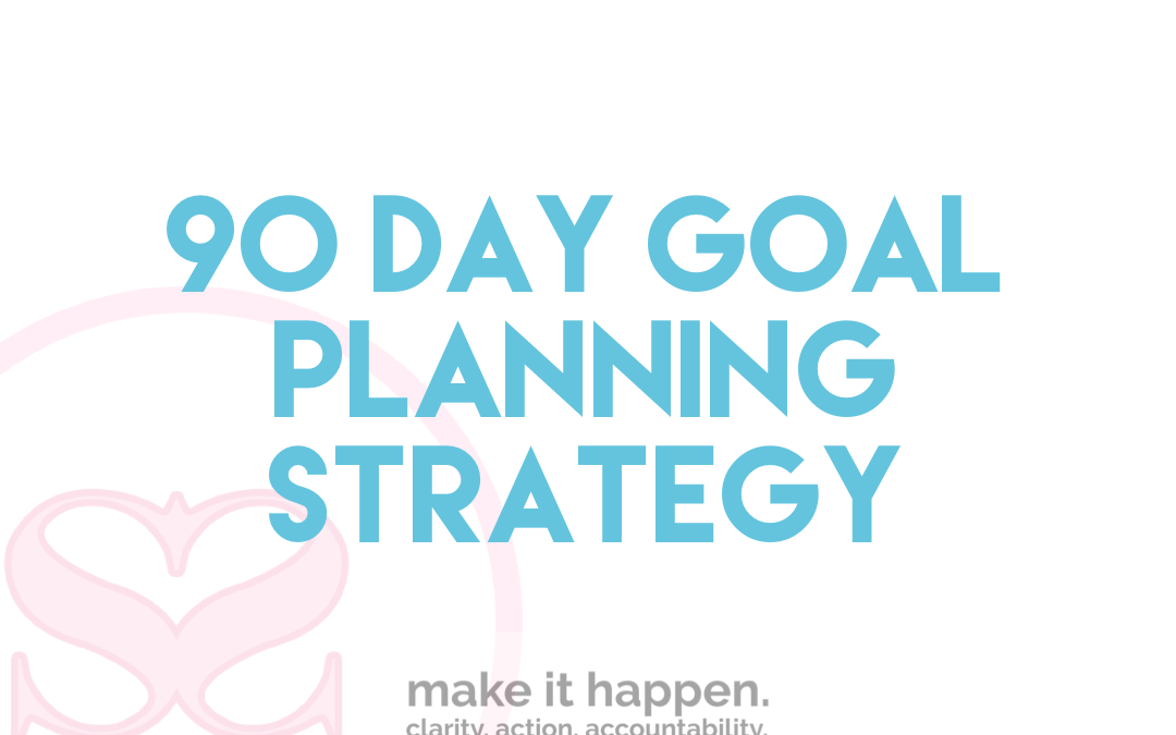 90 Day Goal Planning Strategy
